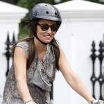 Pippa Middleton on a bike