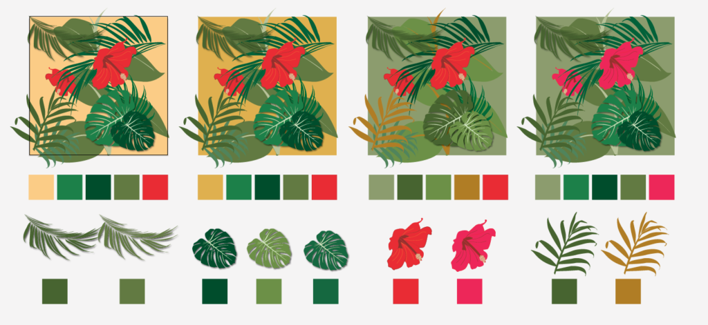 Colour ways for sampling
