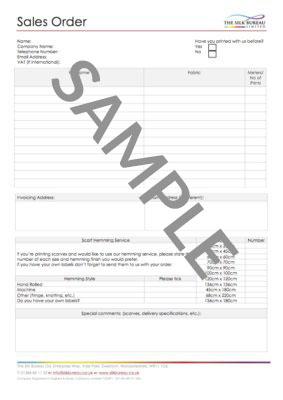 sample order form image