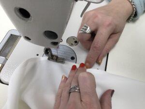 13. Finally, stitch to close