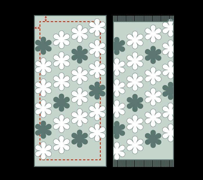 scarf hemming allowance fringe